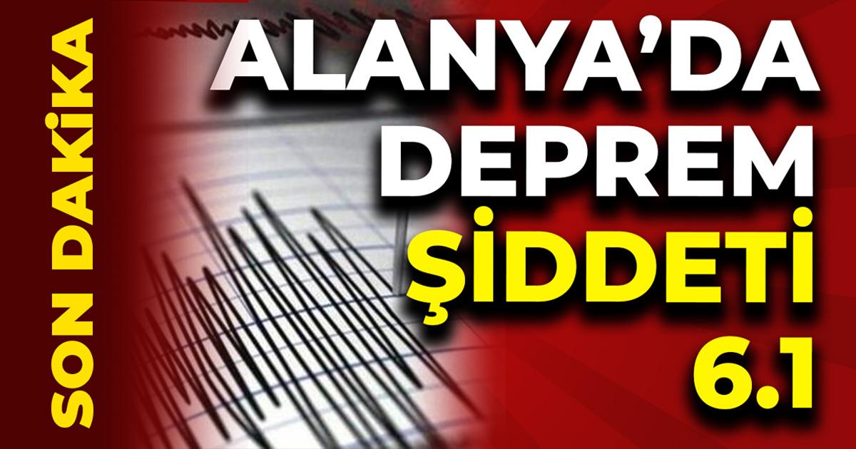 Deprem Alanya'da meydana geldi