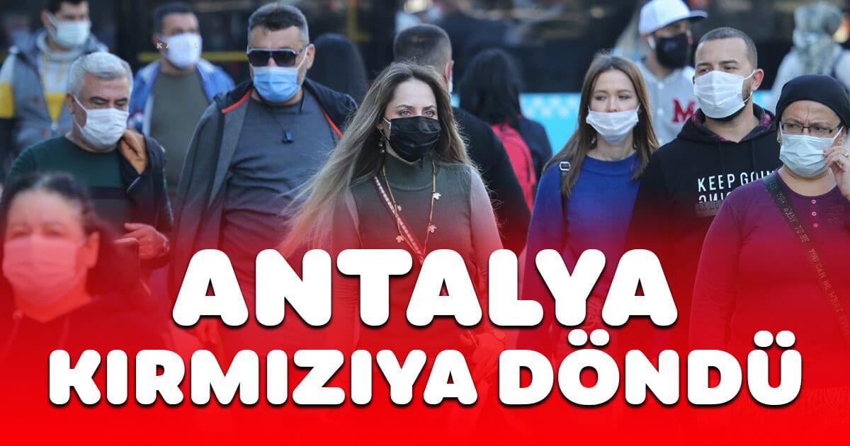 Antalya kırmızıya döndü