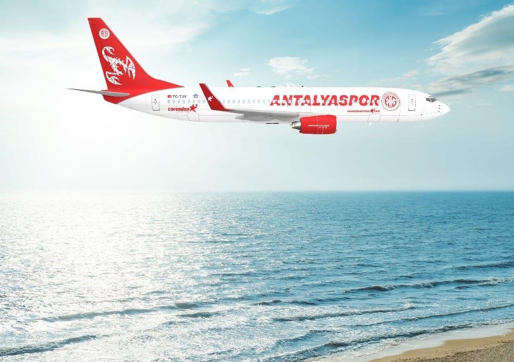 Corendon Airlines'ten Antalyaspor'a final hediyesi takım uçağı