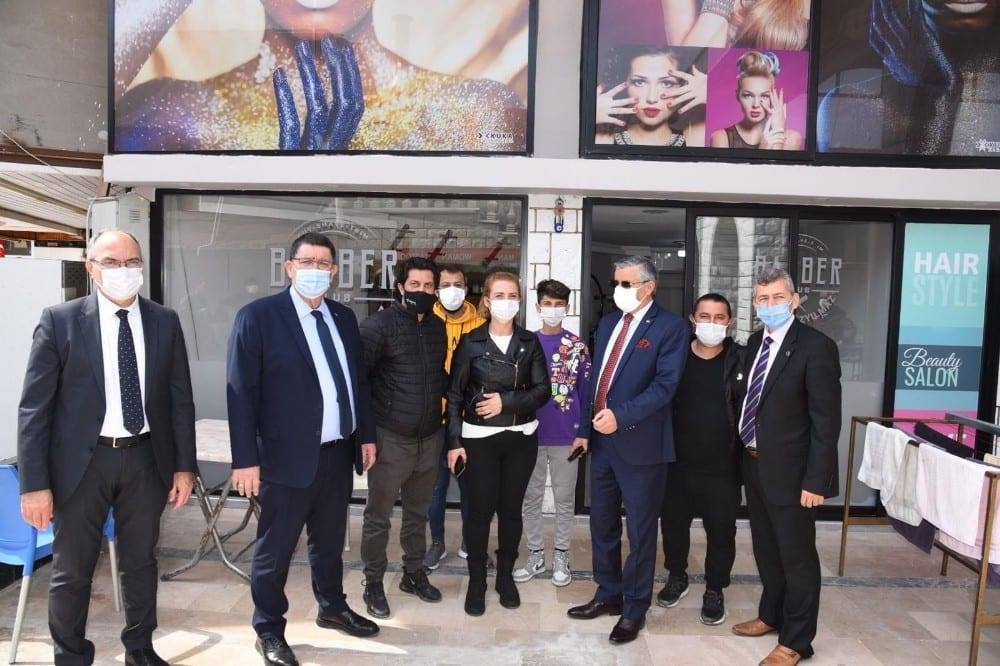 Dere'den Kemer'de esnaf ve sanatkarlara pandemi ziyareti
