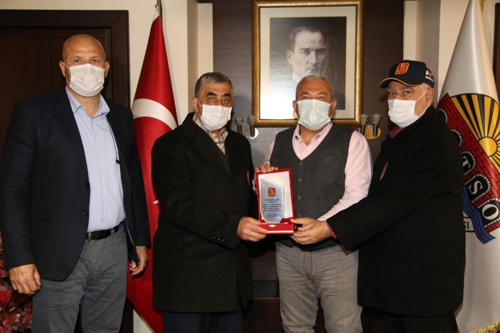 Gazilerden Başkan Şahin'e ziyaret