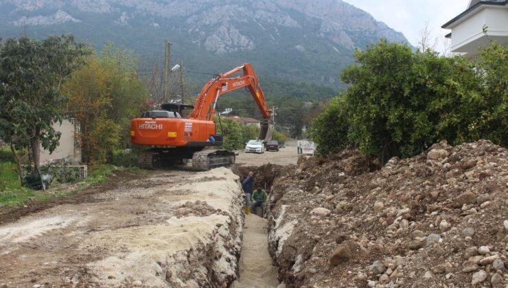 Kemer Kuzdere'de yeni hat çalışması