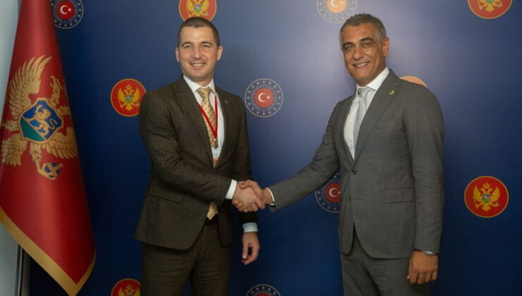 Karadağ Meclis Başkanı'ndan Erkan Yılmaz'a ziyaret
