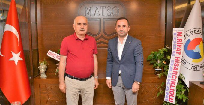 Rasim Metin'den MATSO'ya ziyaret